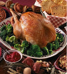 Turkey Christmas dinner